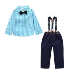>> Click to Buy << 2017 Summer Hot Items Baby Clothing Set Infant Toddler Baby Boys Long Sleeves Plaid Shirt Suspenders Pants 2 Pcs Set Overalls #Affiliate