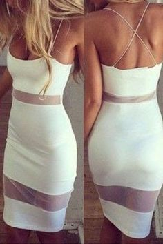 Fashion Solid Color Stitching Bodycon Dress