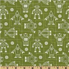 Robot Factory Organic Robot Schematics Green.