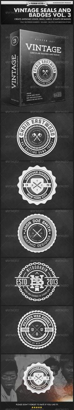 Vintage Seals and Badges Vol. 3