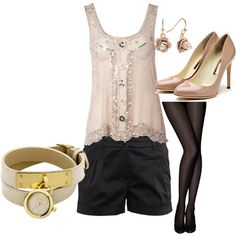 dressy summer outfit!, created by me on Polyvore! ;-)