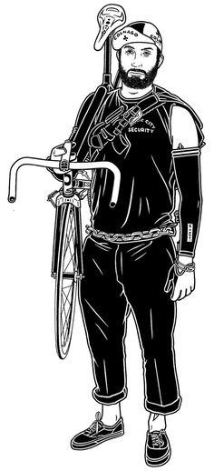 Graffiti, tattoo, illustrazioni e bici Mike Giant, Bicycle Illustration, Illustration Art, Cat Races, Vintage Bmx Bikes, Bike Drawing, Bike Messenger, Graffiti Tattoo, Bicycle Art