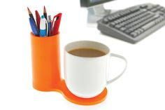 J-me Jot Desk Coaster (orange) $16