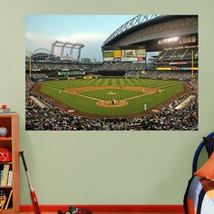Inside Safeco Field Mural Fathead Wall Graphic | Seattle Mariners Wall Decal | Sports Decor | Baseball Bedroom/Man Cave/Nursery
