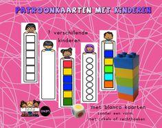 patroonkaarten met verschillende kinderen van katrotje