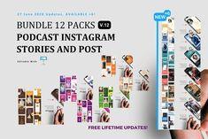 Bundle 12 Podcast ig Stories Keynote by rivatxfz Instagram Mockup, Instagram Design, Instagram Story, Instagram Posts, Company Presentation, Product Presentation, Business Events, Business Marketing, Editing Pictures
