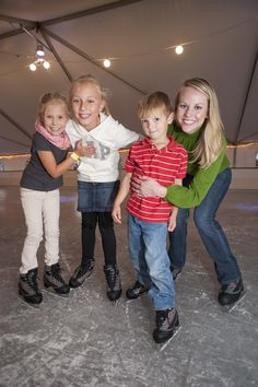 ALL SKATE at Baytowne Wharf, Sandestin - Yes, we build an ice rink every winter!