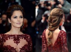 How to get the red carpet hairstyle - romantic loose braid like cheryl cole. Celebrity hairstyle.