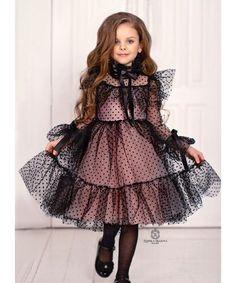Polka-dot dress for girls Dress fot little lady Girls Baby Girl Party Dresses, Little Girl Dresses, Baby Dress, Flower Girl Dresses, Vintage Girls Dresses, Cute Dresses, Kids Dress Wear, Baby Frocks Designs, Princess Ball Gowns