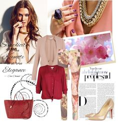 """""""Nude print"""" by sarapires on Polyvore"""