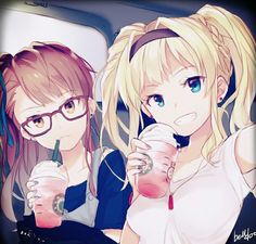 Zeta and Beatrix - Zeta and Beatrix - Anime Girlxgirl, Chica Anime Manga, Manga Girl, Anime Art, Anime Girls, Anime Best Friends, Friend Anime, Anime Sisters, Anime Friendship