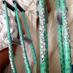 DIY: Customized crutches with duck tape and rhinestones