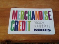 $91.00 kohls merchandise creditCard does not expireCard will be shipped certified mail after payment is received #credit #store #card #gift #kohls