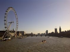 View of London from Embankment bridge Tuesday 27th March 2012