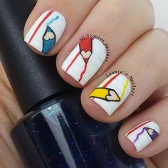 Instagram media leonies_nailart - school #nail #nails #nailart