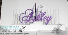 Simple All glitter Sweet 16 Candle Stand.