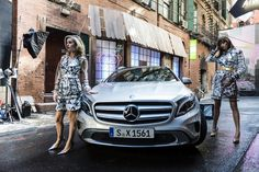 Georgia May Jagger insieme a Mercedes GLA – video