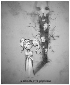 The shadow of the girl with split personality  -Kindergarten, Shawn Coss