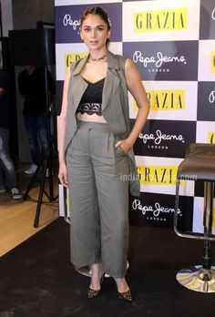 Hit: Aditi Rao Hydari looked pretty as ever in Marks & Spencer separates and a Topshop bralet. The a... - Provided by Indian Express Slideshows