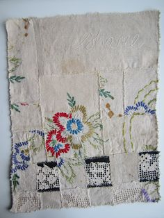 Textile::Quilts::Embroidery| Serafini Amelia| by stitch therapy