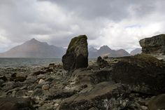 DESPITE STRAIGHT LINES posted a photo:  Photograph taken at an altitude of Ten metres at 15:21pm on Tuesday 19th May 2015 off the A835, on the rocky shoreline at Elgol, a village on the shores of Loch Scavaig towards the end of the Strathaird peninsula in the Isle of Skye, in the Scottish Highlands  In the background we see the Black Cuillin mountain range. And from this beach you can catch a boat ride with 'Misty Isle Boat Trips'. The Black Cuillins (Gaelic: An Cuilthionn or An Cuilthean)…