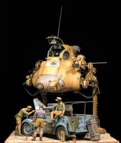"Un superbe diorama basé sur le ""Jerry"""