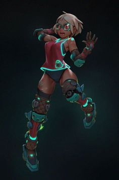 New addition to my Cyber candy girl series, I enjoyed creating rocket boots so i wanted to do it again :) hoe you enjoy.  this time the animation was done by: https://vimeo.com/gustavoteixeira