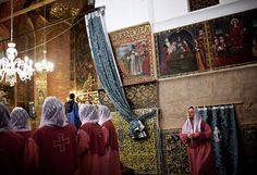 An Iranian-Armenian choir sings religious songs during a week-end mass at the Saint Stepanos church in the Julfa neighborhood of Isfahan. Julfa neighbourhood is where the biggest Armenian community in Iran resides Image: BEHROUZ MEHRI/AFP/Getty | www.piclectica.com #piclectica