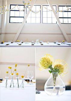 simple wedding decor: so pretty, DIY yellow and gray wedding