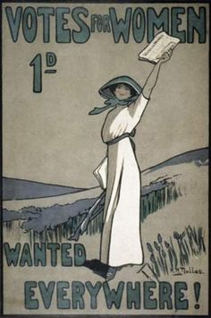 British poster for the Suffrage Movement