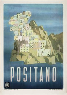 vintage positano poster - Google Search