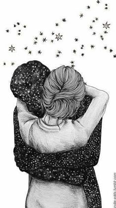 Image discovered by Zoridiel López Díaz. Find images and videos about love, art and couple on We Heart It - the app to get lost in what you love. Couple Drawings, Art Drawings Sketches, Love Wallpaper, Wallpaper Backgrounds, Iphone Wallpaper, Illustration Art Dessin, Couple Art, Cute Love, Love Art