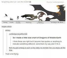 Middle-Earth dragons ≈Lord of the Rings - Hobbit - Tolkien ≈ Legolas, Thranduil, Gandalf, Das Silmarillion, O Hobbit, Hobbit Humor, Hobbit Funny, Into The West, Jrr Tolkien