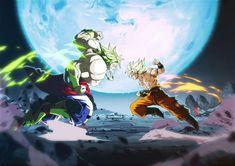 Goku VS the Legendary Super Saiyan by limandao on DeviantArt Old Anime, Manga Anime, Manga Girl, Anime Girls, Akira, Super Anime, Dragon Ball Image, Z Arts, Pokemon