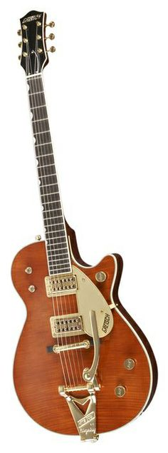 GRETSCH Guitars Custom Shop Duo Jet Flame Maple Top Electric Guitar Walnut Stain | Musician's Friend