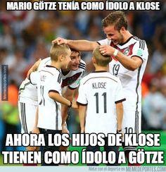 Mario Götze tenía como ídolo a Klose.