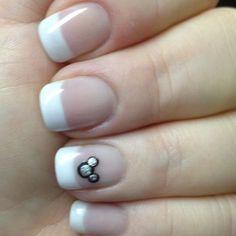 Mickey nail art.