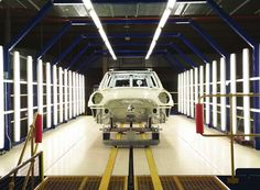 MINI in the making: this MINI Clubman prepares for a paint job at the Oxford Plant, UK.