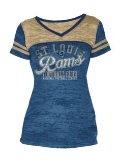 d9192063e Ladies Football Burnout Rams T-Shirt Titans Gear