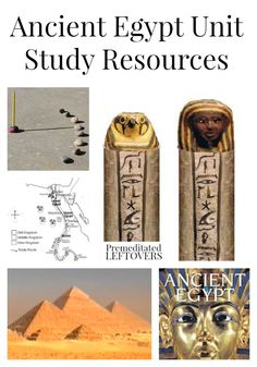 Ancient Egypt Unit Study Resources including free ancient Egypt lapbooks and printables, as well as ancient Egypt videos, crafts and resources.