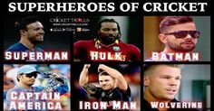 #VivoIPL #IPL9 #IPL2016 #T20 Cricket Trolls  Superheroes of International Cricket AB de Villiers​, Chris Gayle-SPARTAN​, Virat Kohli​, MS Dhoni​ Brendon McCullum​ and David Warner​  http://www.crickettrolls.com/2016/04/02/superheroes-of-cricket/
