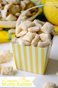 Lemon Bar Muddy Buddies | www.lemontreedwelling.com
