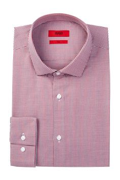 Easton X Long Sleeve Slim Fit Check Dress Shirt