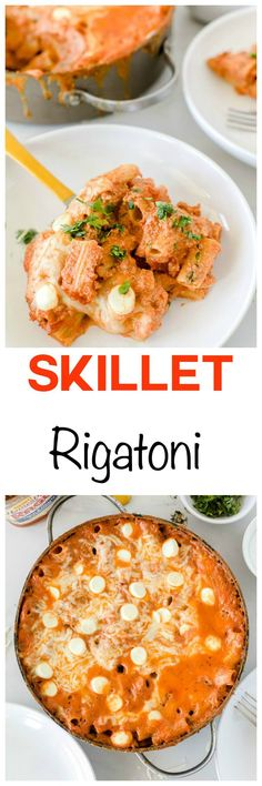 Skillet Sausage Rigatoni: Amazingly cheesy pasta with spicy sausage ...