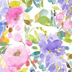 bluebellgray Wisteria Garden (Set of 3 Panels) Multi Mural main image