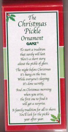 Amazon.com: Christmas Pickle Ornament By Ganz: Home & Kitchen