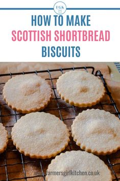 Scottish Shortbread Biscuits are simple to make, you need 3 ingredients: butter, sugar, flour. Let me show you how to turn these simple ingredients into an iconic buttery shortbread biscuit (cookie) that will wow your friends and family Scottish Shortbread Cookies, Chocolate Chip Shortbread Cookies, Shortbread Biscuits, Shortbread Recipes, Biscuit Cookies, Simple Shortbread Recipe, British Biscuit Recipes, British Biscuits, Easy Biscuit Recipe