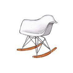 Good objects *interior design edition* - Eames Rocker Chair #eames #eameschair #goodobjects