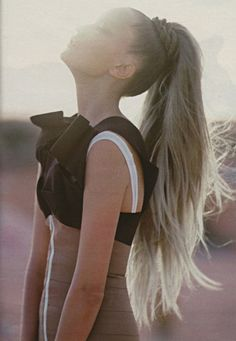 I love the twisted hair around the ponytail!