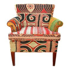 Vintage Kantha Chair | Lochan   - cool pattern; don't know how comfortable it would be though
